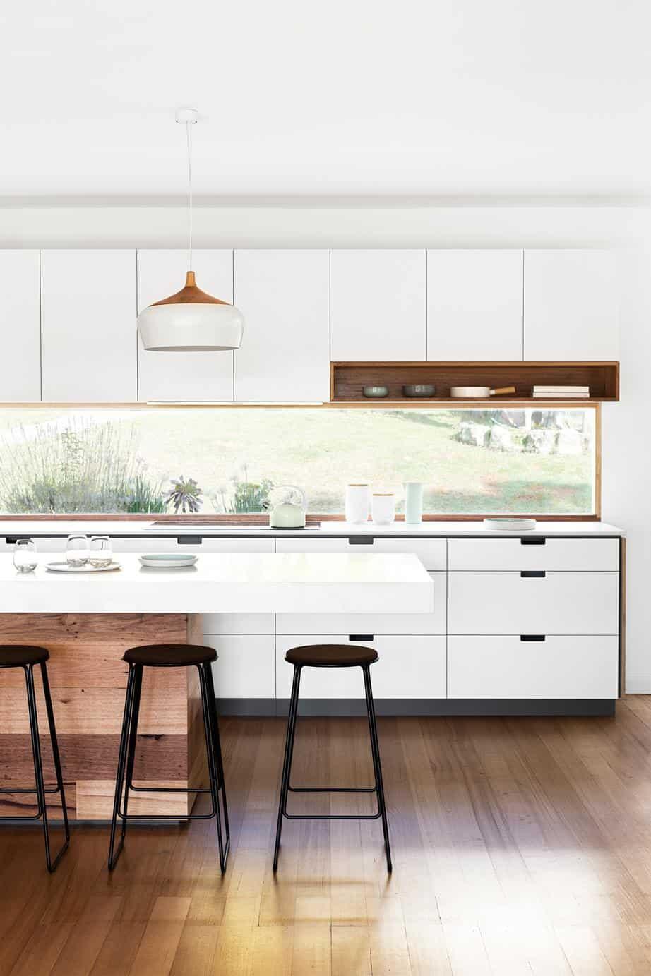 Window custom kitchen backsplash