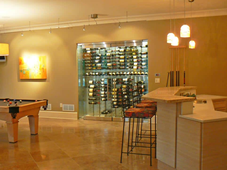 Wine cellar and bar by Robin LaMonte