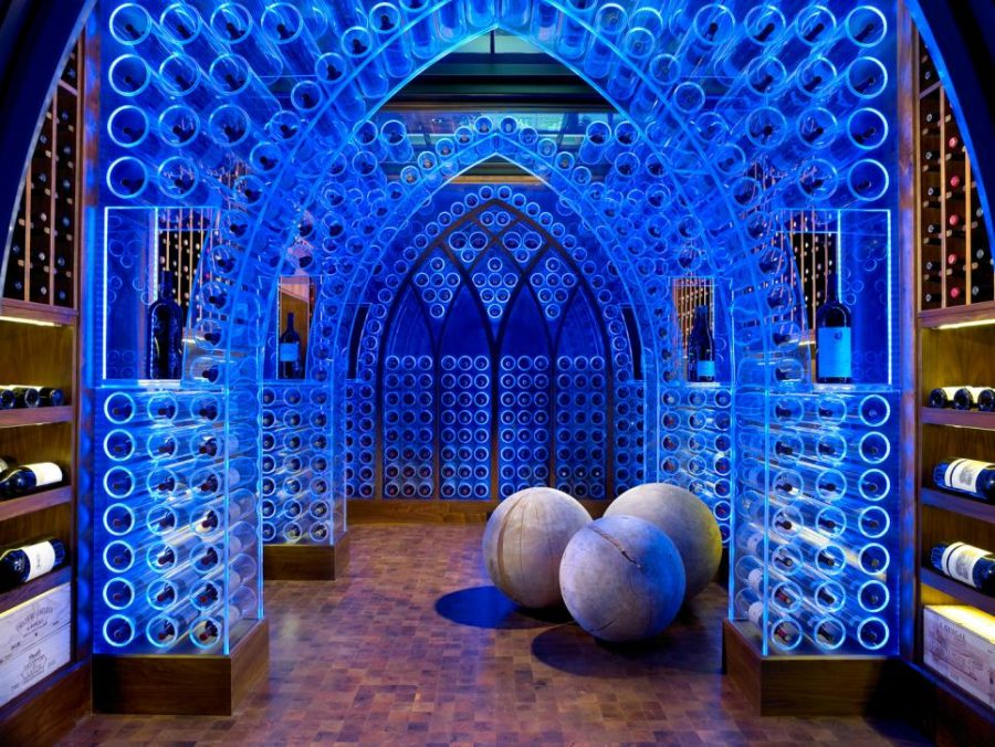 Wine cellar by Beckwith Interiors