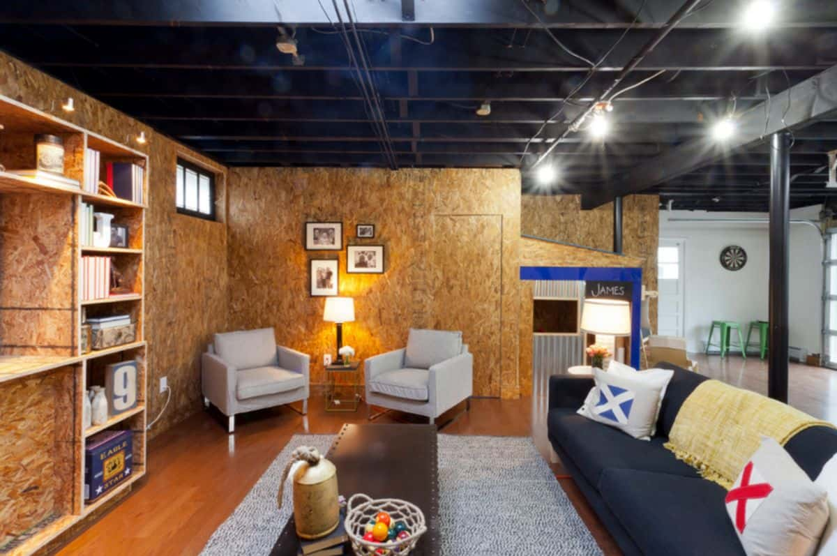 turn the basement into an office