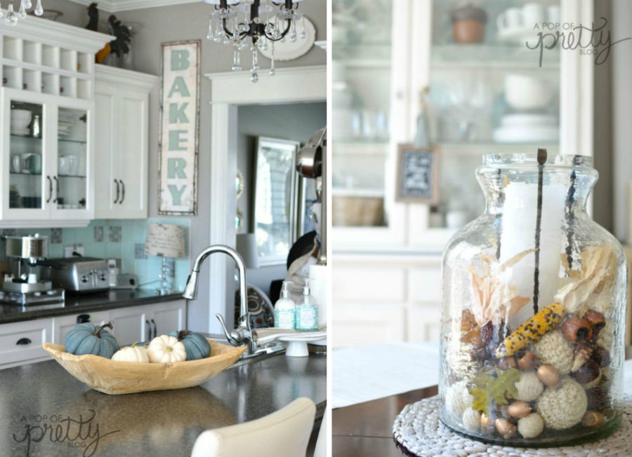 View In Gallery A Pop Of Pretty Fall Kitchen Decor