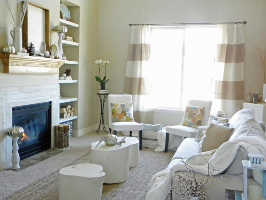 Alicia Roothoff Thrifty and Chic neutral fall living room decor