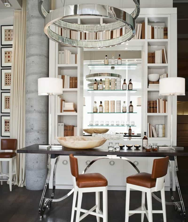 Home Library Design Ideas You Must See: 35 Chic Home Bar Designs You Need To See To Believe