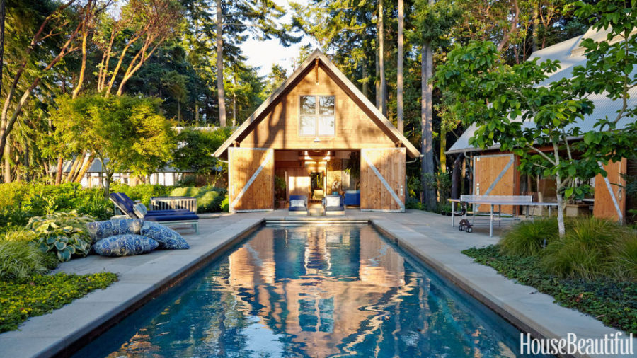 Barn style house with pool