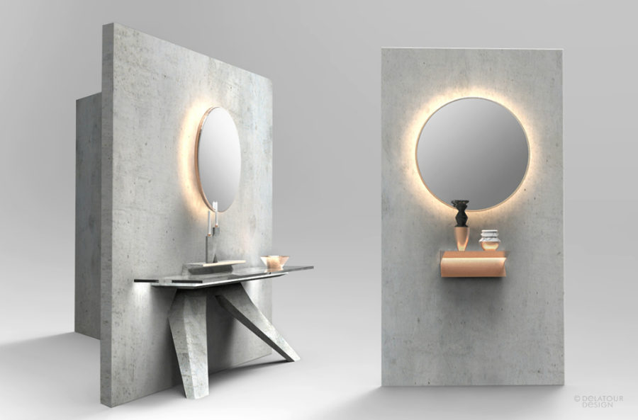 Bathroom mirror by Design Lab