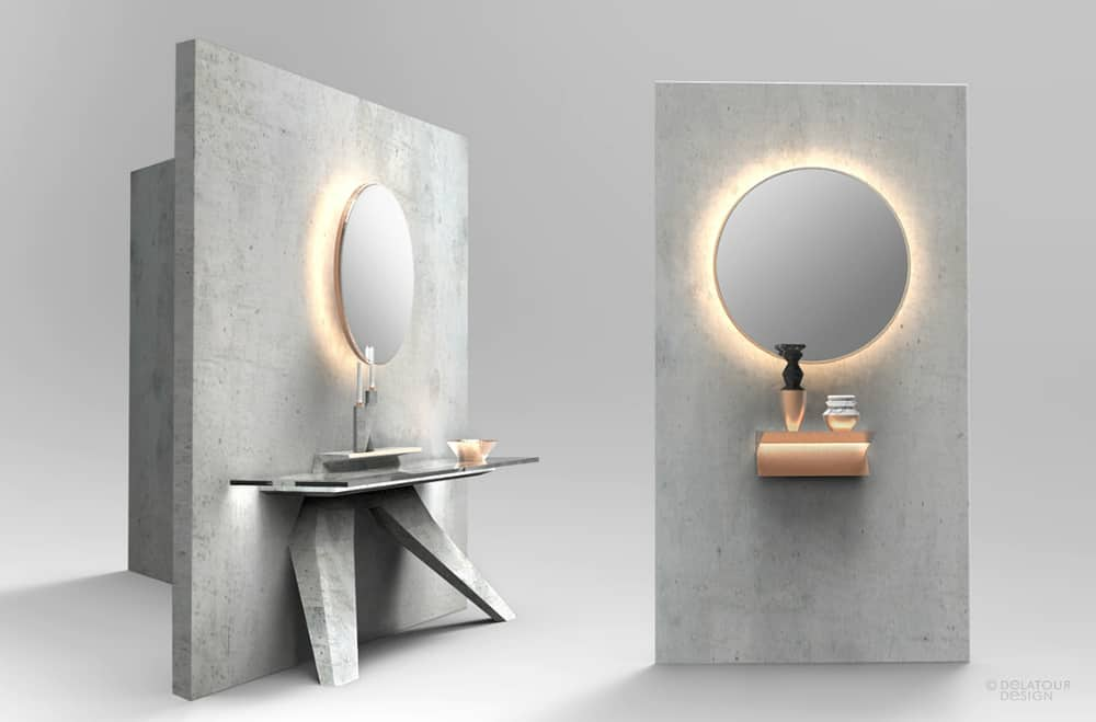 Bathroom mirror by Design Lab