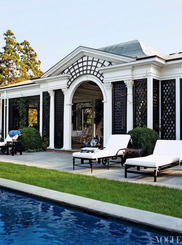 Beautiful black and white house design