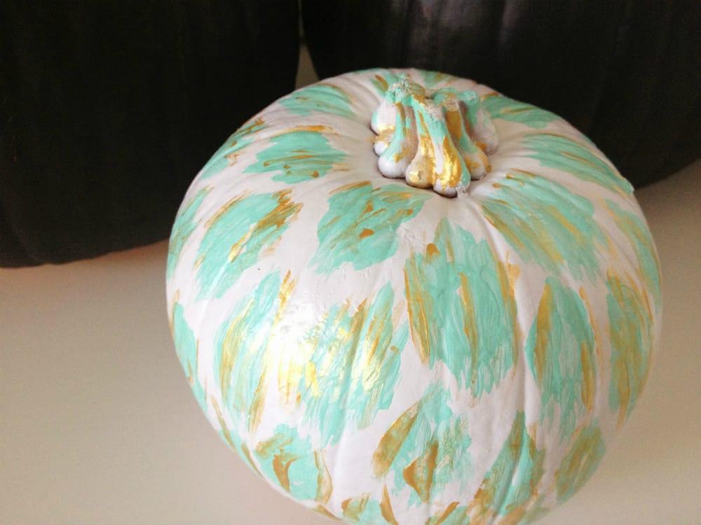 Beautifully painted pumpkin