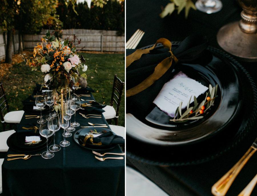 Black Dining Table Fall Decor Ideas