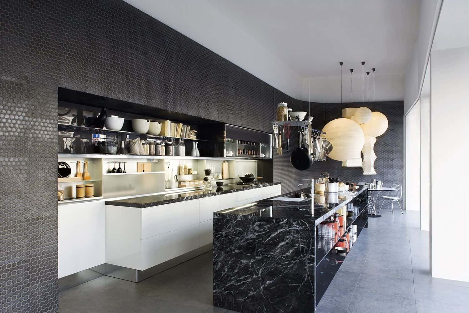 black-marble-kitchen-island-design