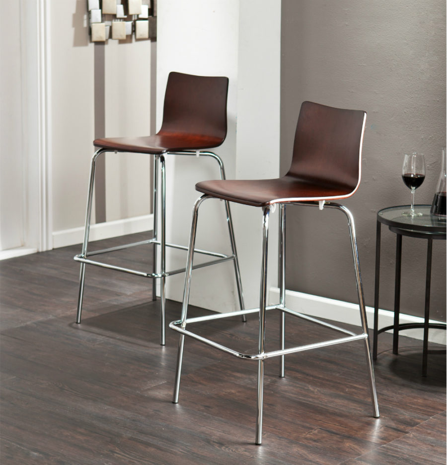 Blence Barstools in Espresso 900x935 30 Kitchen Chairs With Modern Flair