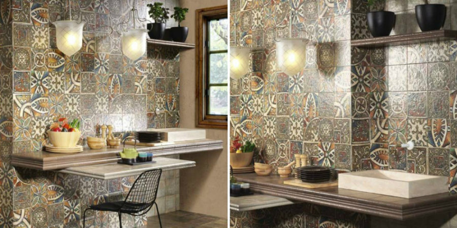 View In Gallery Bolonia Decor Medievo Glazed Ceramic Wal Decor Tile From  Italtile 900x450 27 Modern Ceramic Tile Designs
