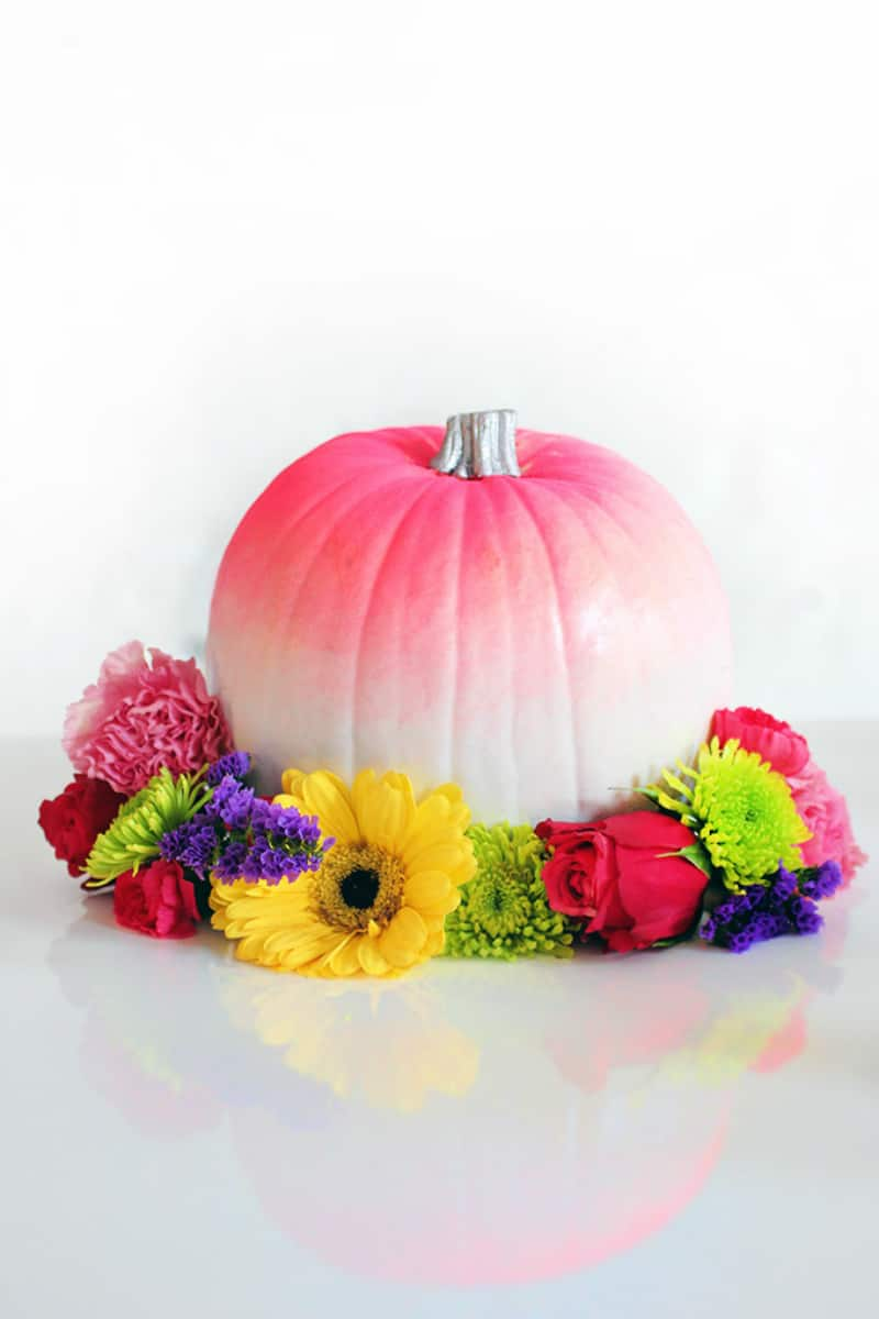 Bright ombre pumpkin
