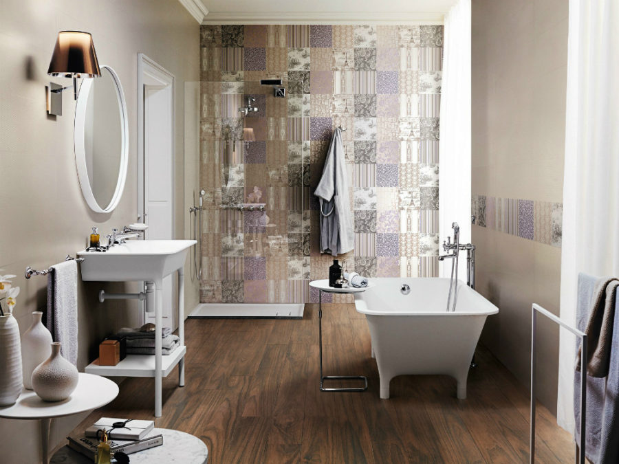 Ceramica SANT'AGOSTINO white paste-wall tiles in lavender
