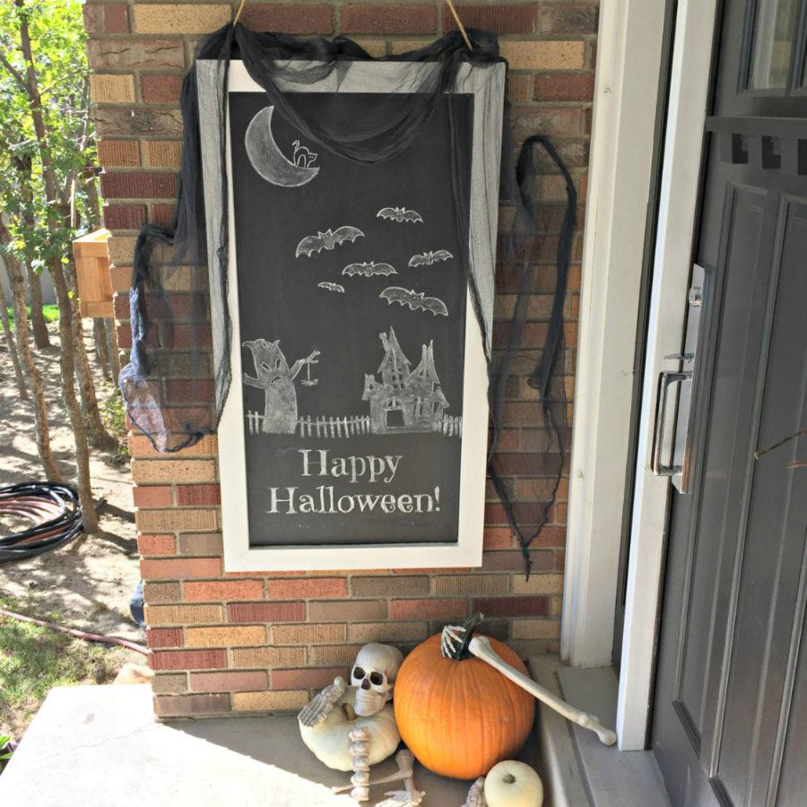Chalkboard Halloween art