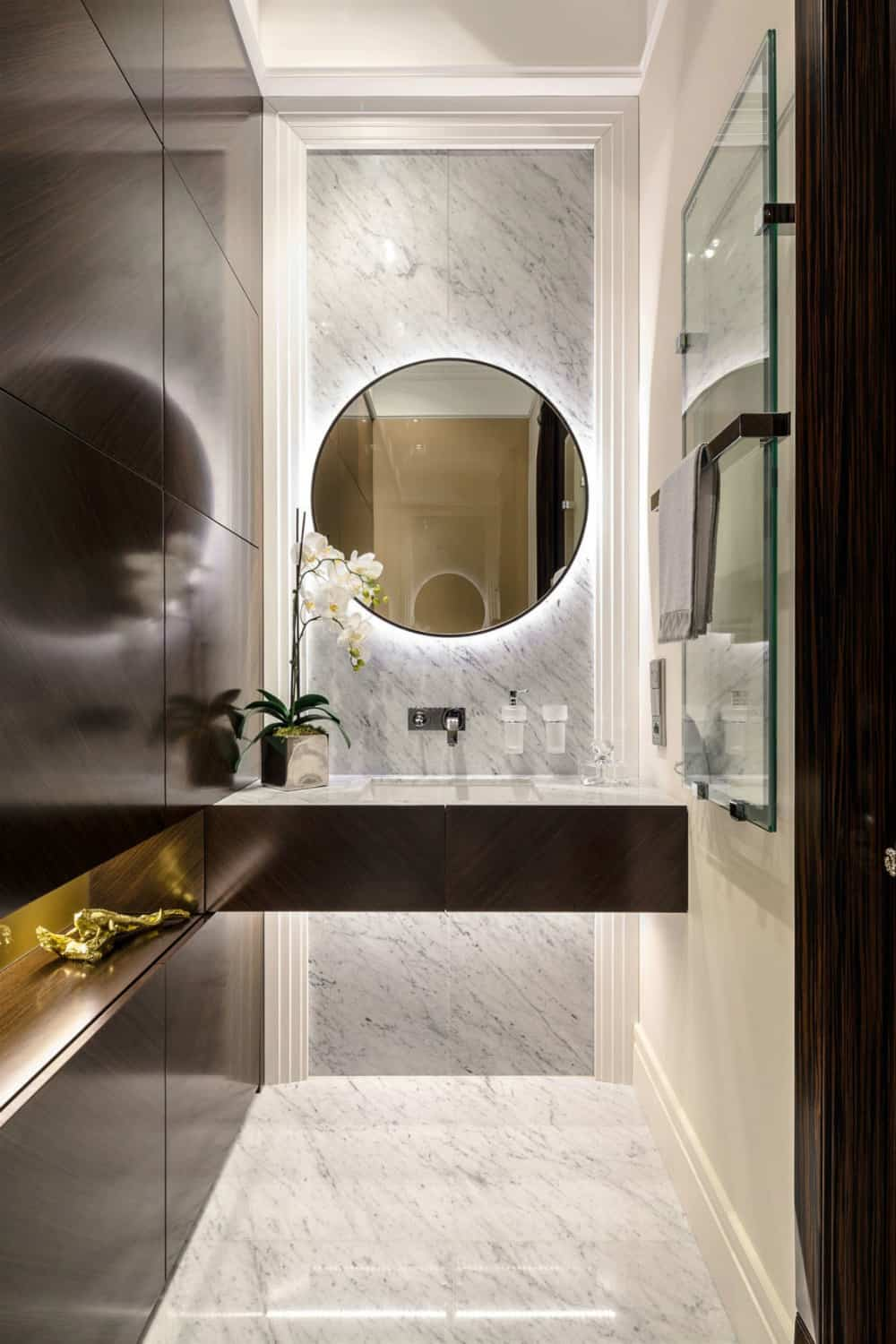 Chic apartment bath design by NGStudio-19