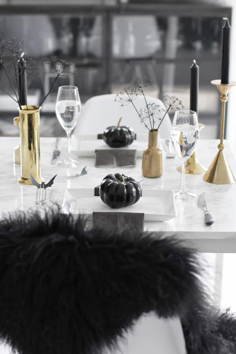 Classy Halloween Table Decor
