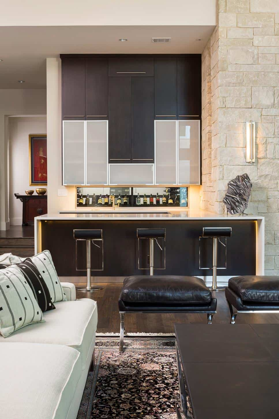 Cornerstone Architects' Stratford Residence home bar