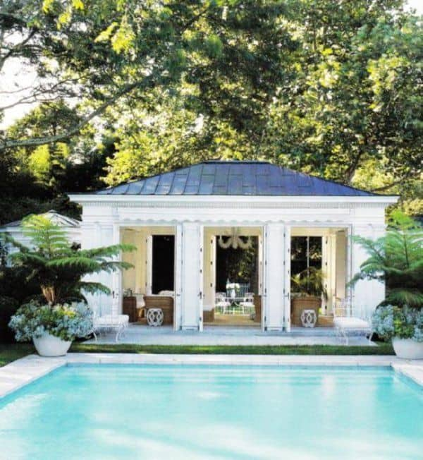 Dive Into This Zen Pool House With Rustic Flair