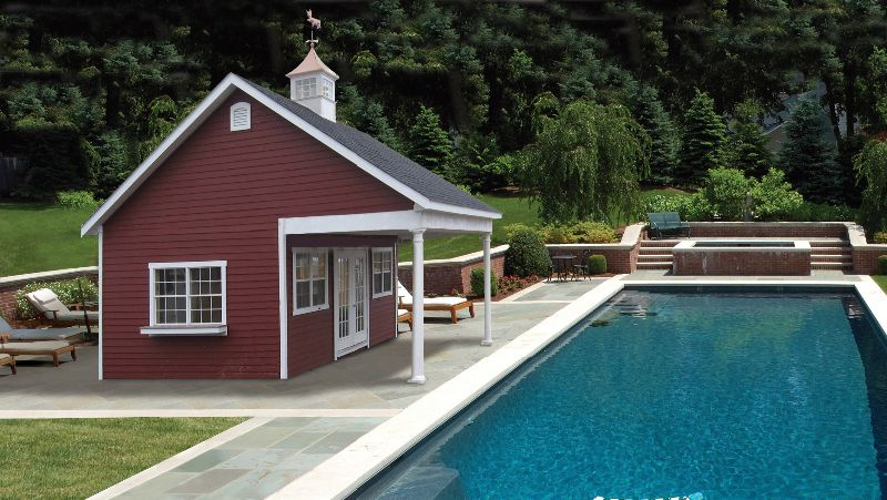 Country home with a small pool