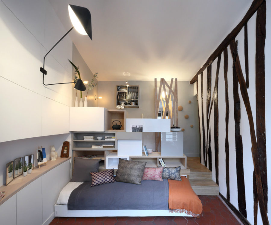 Creative student apartment design