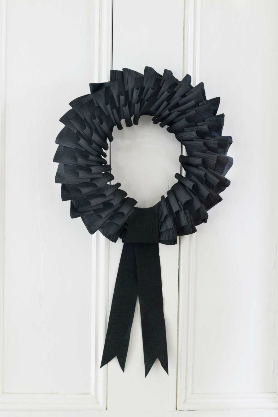 Creepy Crepe-Paper Wreath