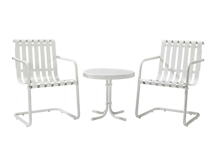 Crosley Furniture Gracie 3-Piece Steel Patio Conversation Set