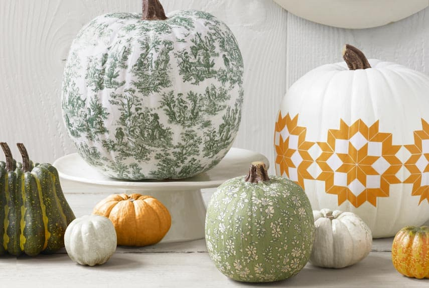 Decoupaged pumpkins