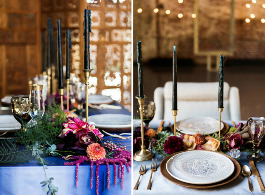 Dramatic fall table decor