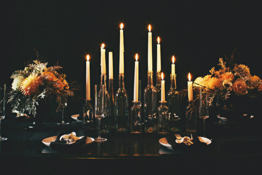 Elegant Halloween table
