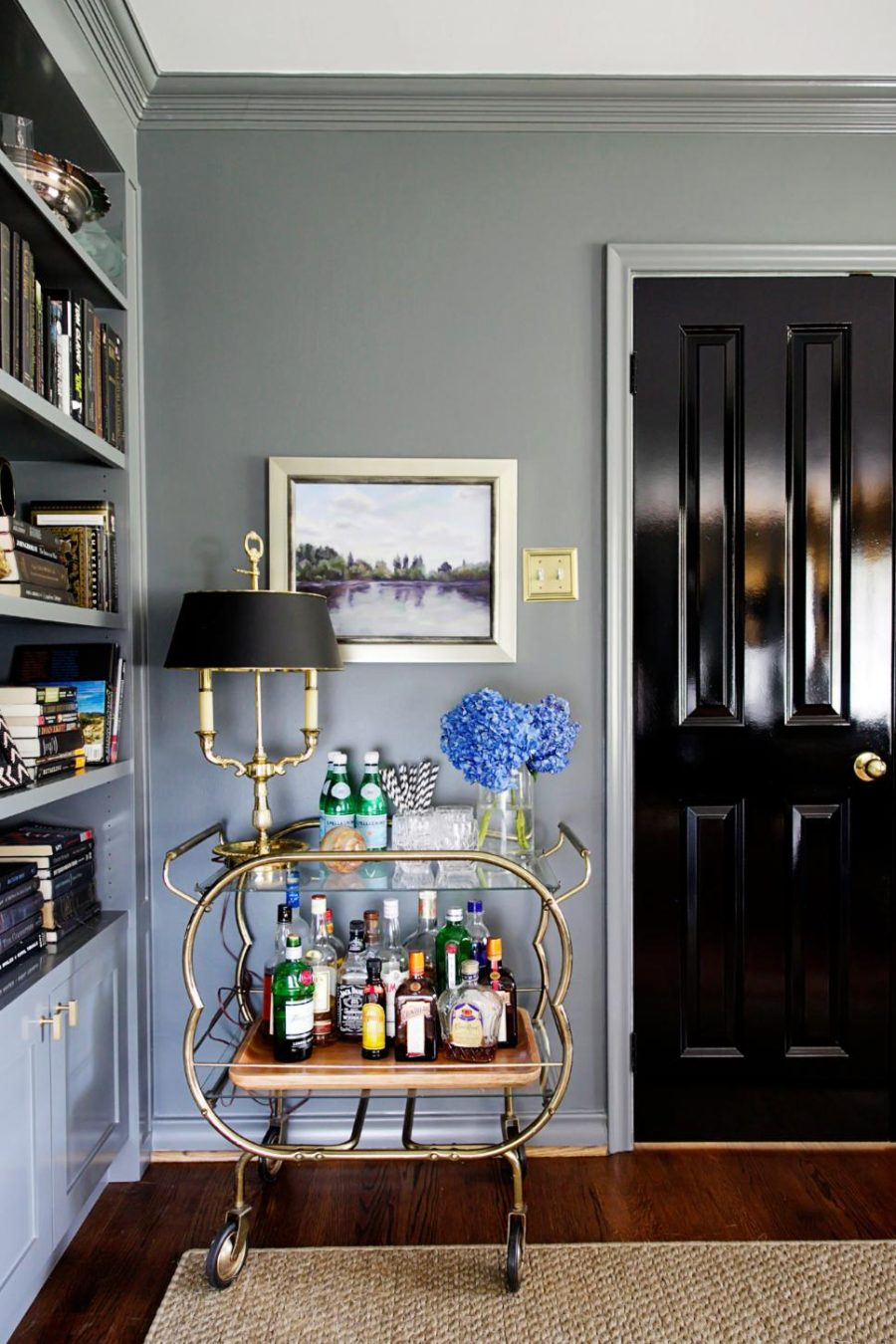Elegant bar cart by Brooke Inabnett