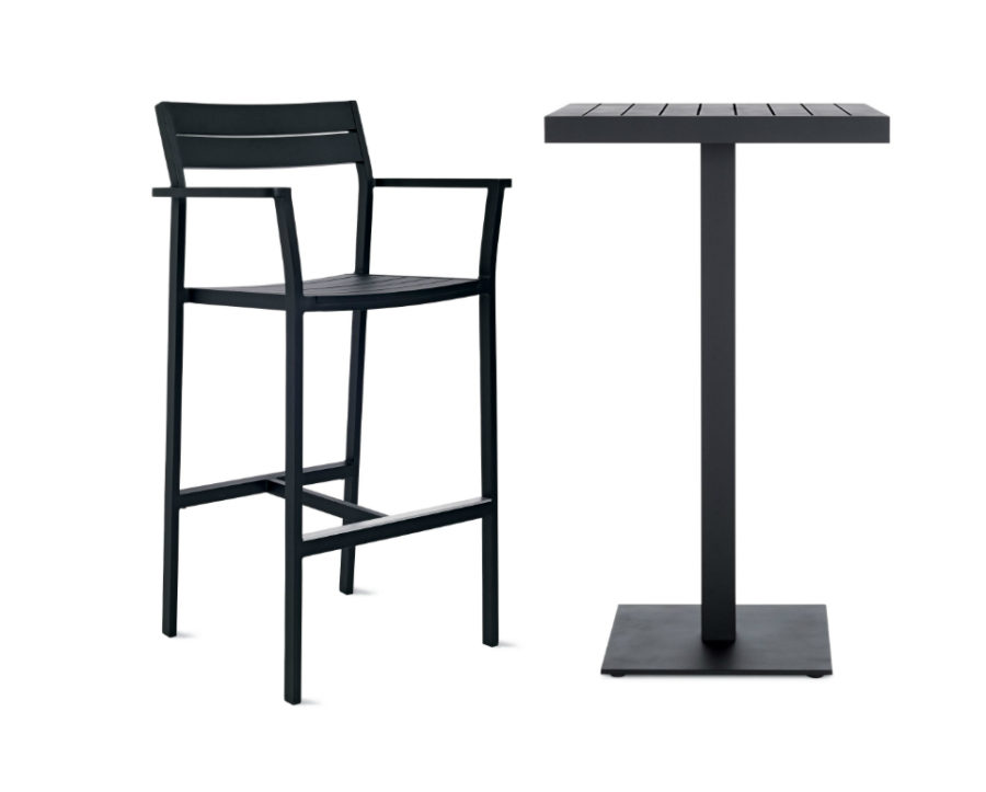 Eos Bar-Height Table and Barstool