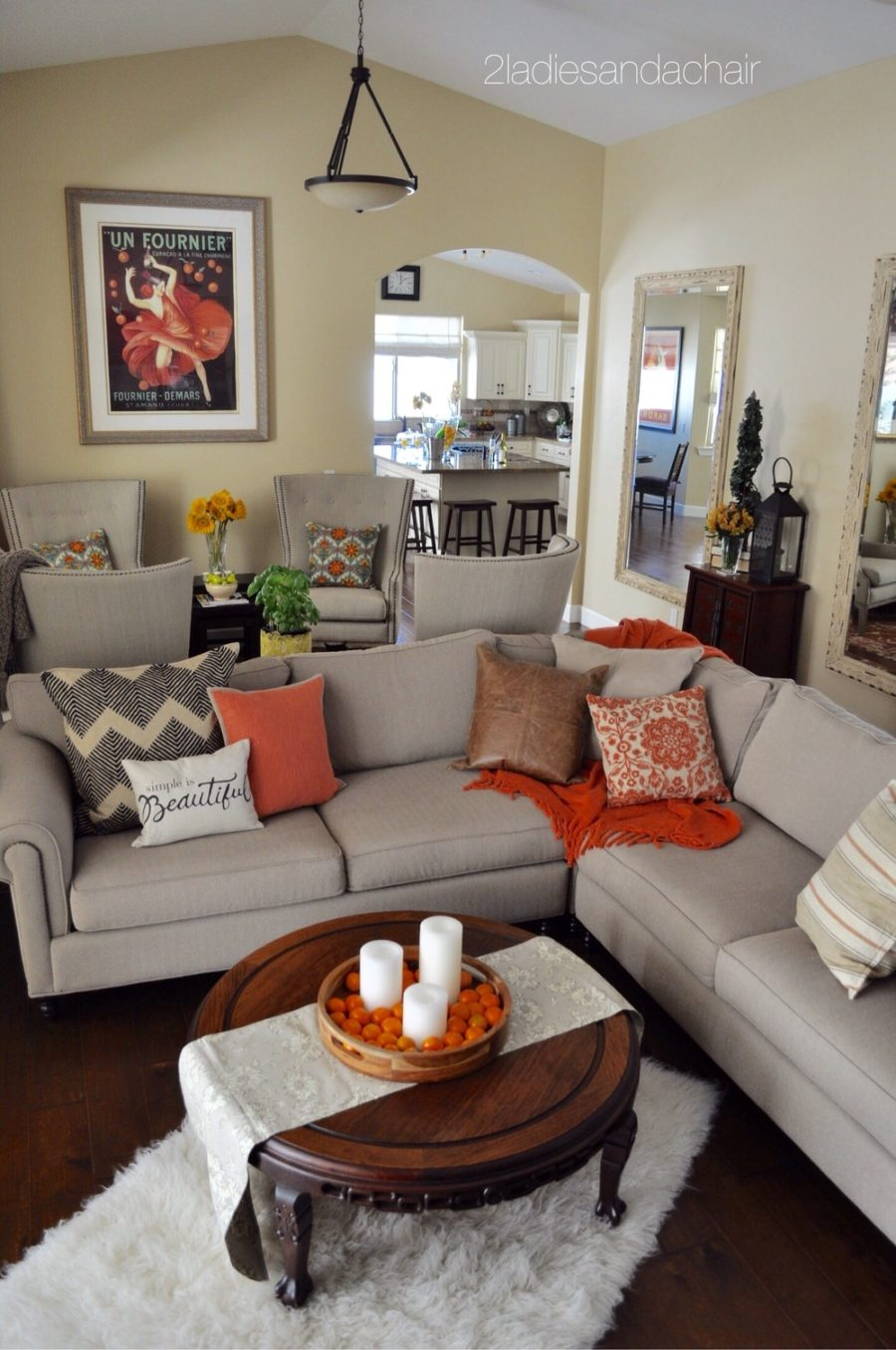 Fall living room accents