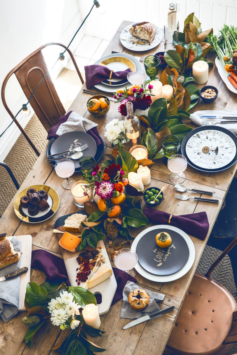 Fall table decor colors