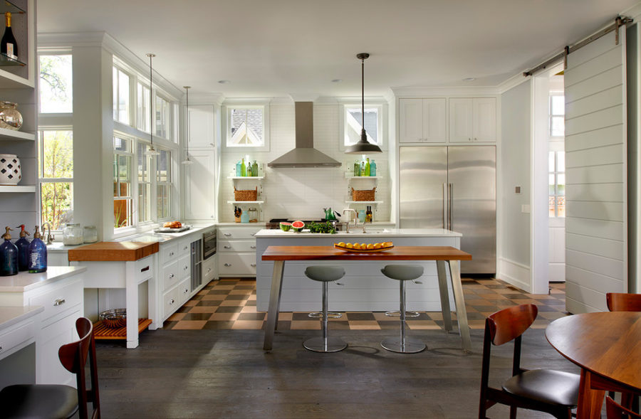 Farmhouse kitchen design with contemporary accents