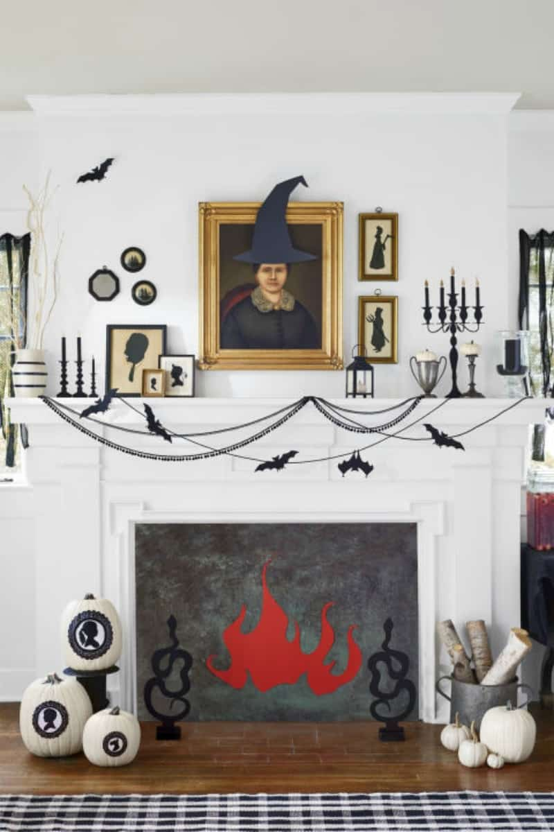 fireplace-decorated-for-halloween