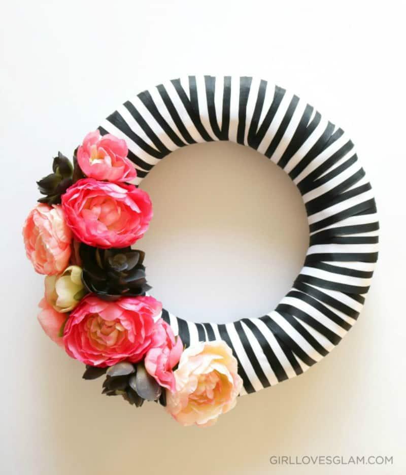 Floral Halloween wreath