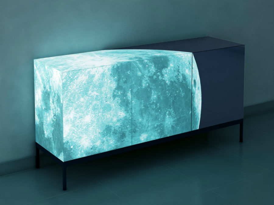 Full Moon glow in the dark sideboard