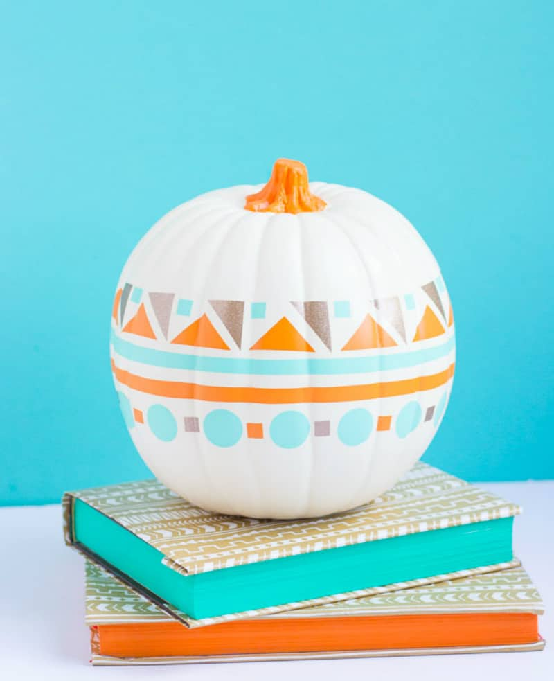 Geometric pumpkin decor