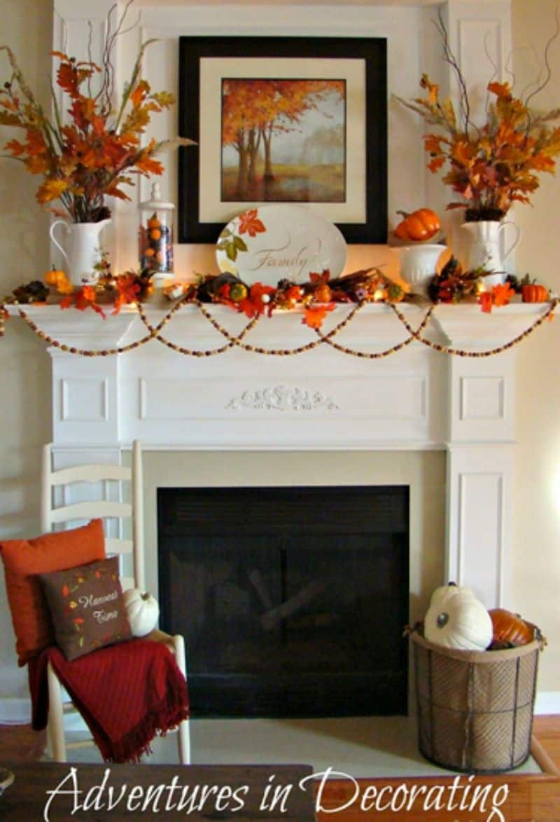 view in gallery gerlands and other accessories for fall - Halloween Mantel Decor