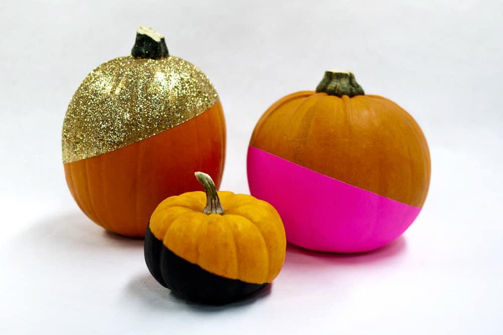 Glitzy bright pumpkins
