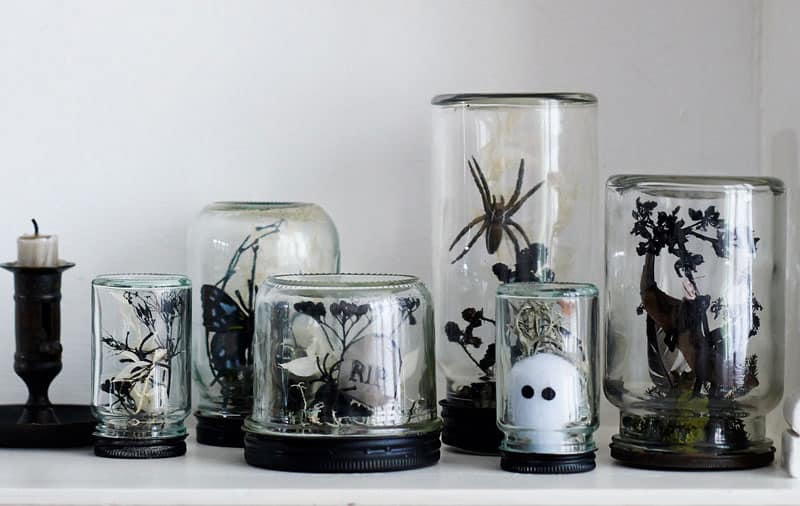 halloween terrariums filled with fears - Halloween Decor