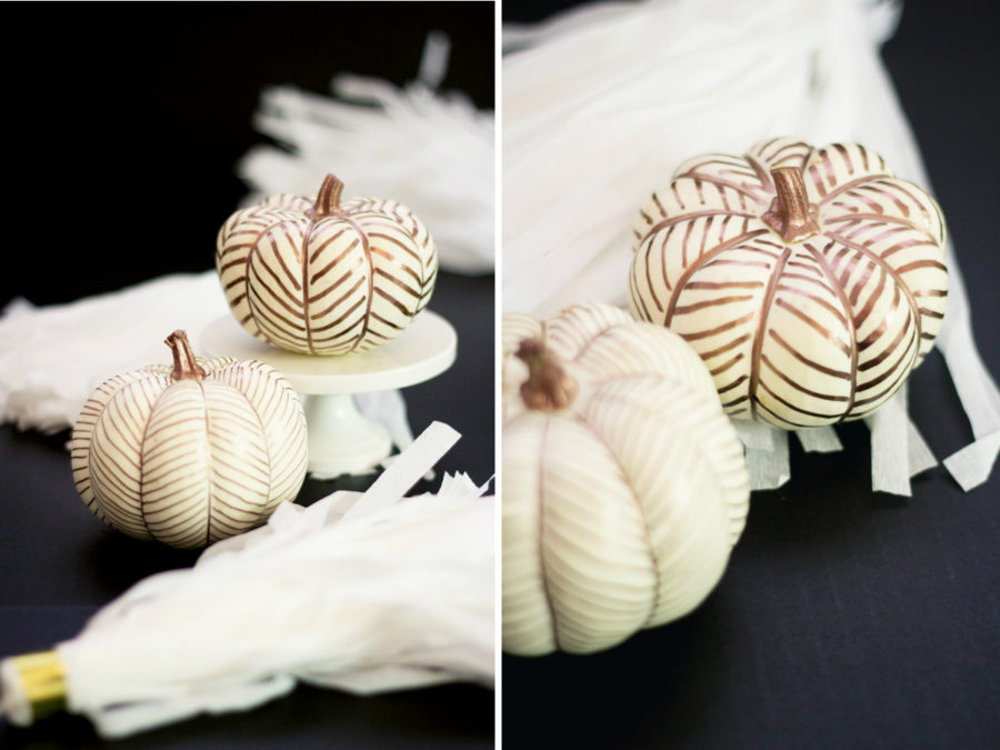 Herringbone pumpkin pattern