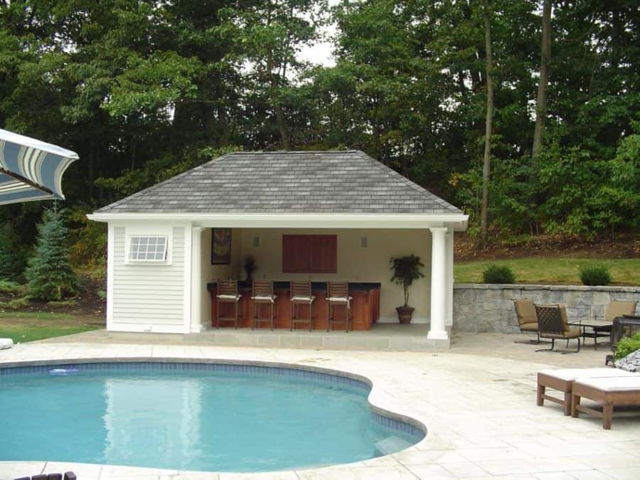 Holiday style house with a small pool