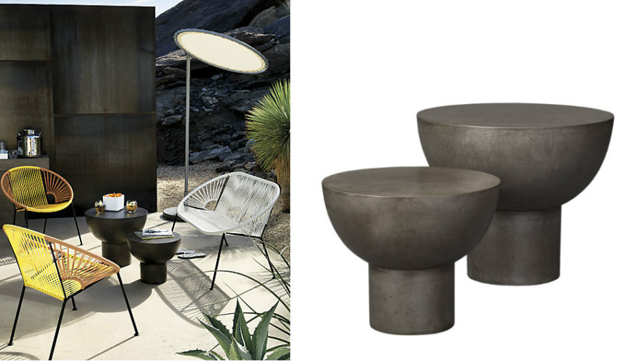 Ixtapa lounge chairs and bongo side tables