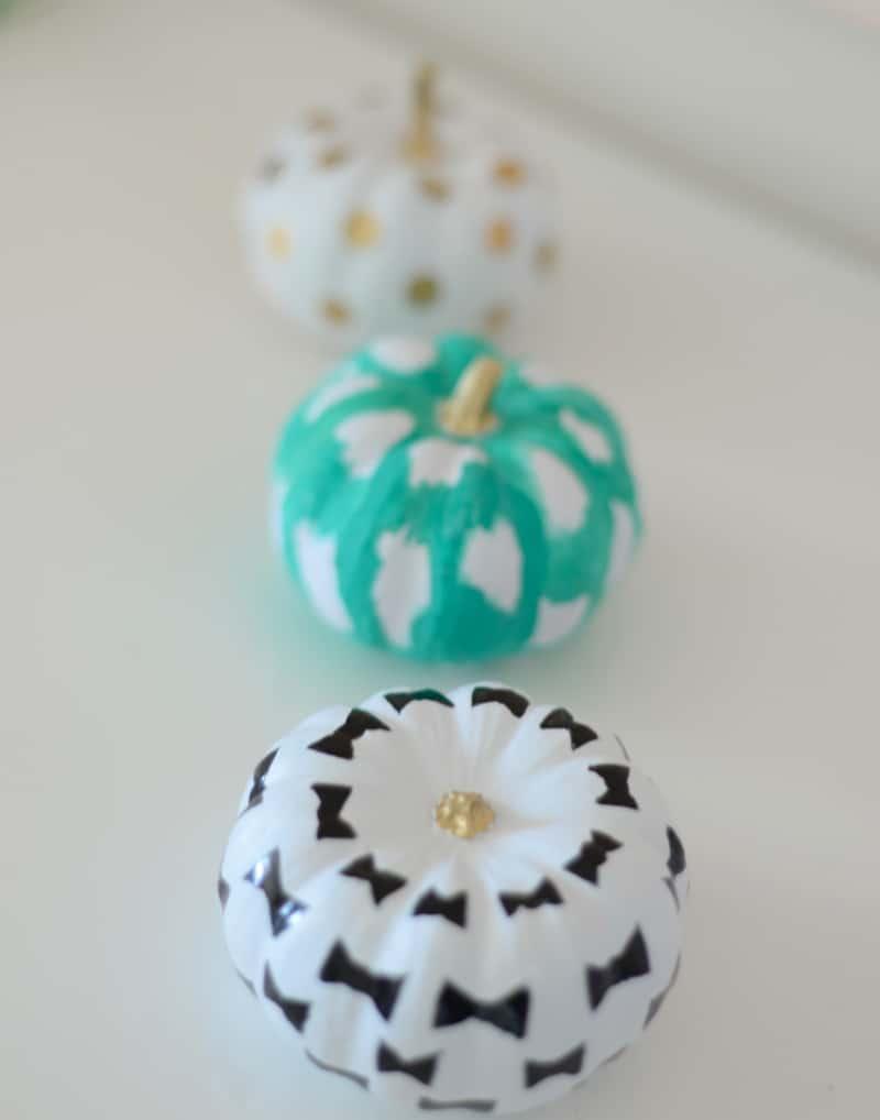 Kate Spade-inspired pumpkins