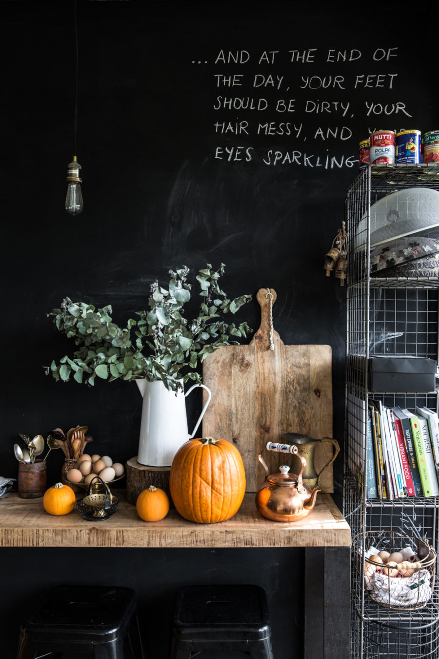 Kitchen fall decor