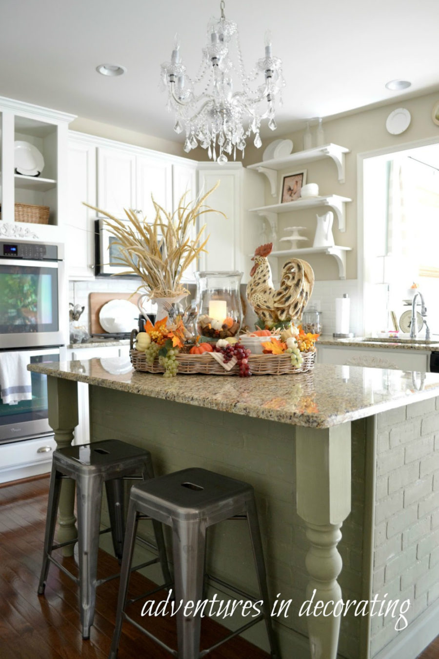 decorating kitchen islands kitchen fall decor ideas that are simply beautiful 11347