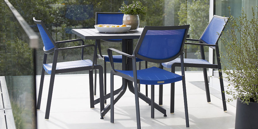 crate barrel outdoor furniture. view in gallery largo collection from crate u0026 barrel blue outdoor furniture