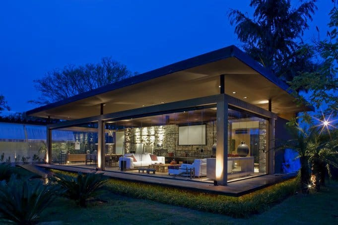 Layered space glass house